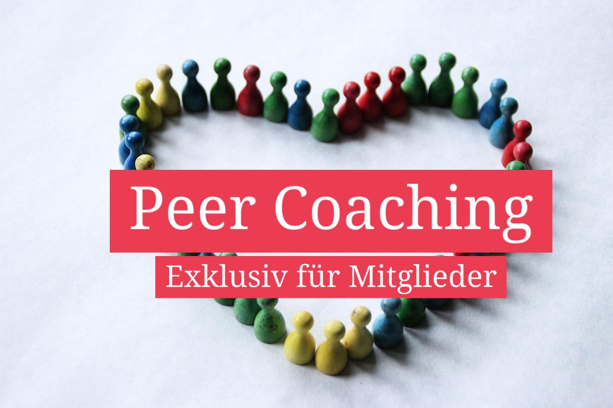 Peer Coaching Exklusiv für Mitglieder