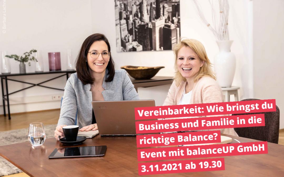 Online-Event Vereinbarkeit: Wie bringst du Business und Familie in die richtige Balance?